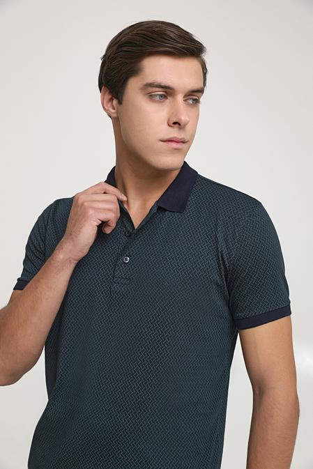 Ds Damat Regular Fit Lacivert Baskılı T-shirt - 6725695037622   D'S Damat