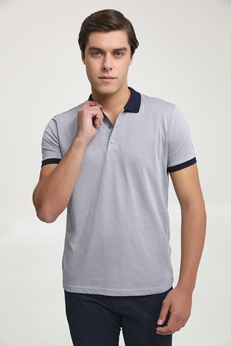 Ds Damat Regular Fit Gri Baskılı T-shirt - 6725695037660 | D'S Damat