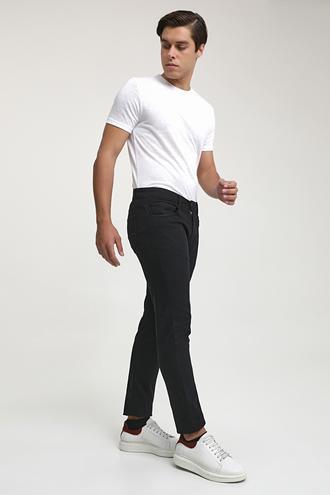 Ds Damat Slim Fit Siyah Armürlü Chino Pantolon - 8682445190274 | D'S Damat