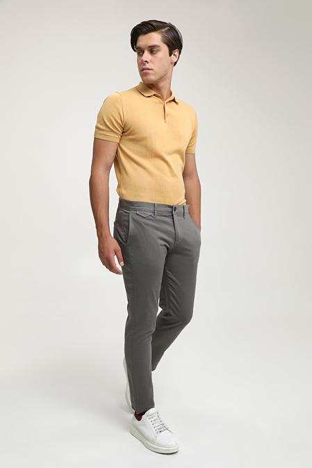 Ds Damat Slim Fit Gri Chino Pantolon - 8682445180954 | D'S Damat