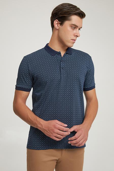 Ds Damat Regular Fit Lacivert Baskılı T-shirt - 6725695037707   D'S Damat