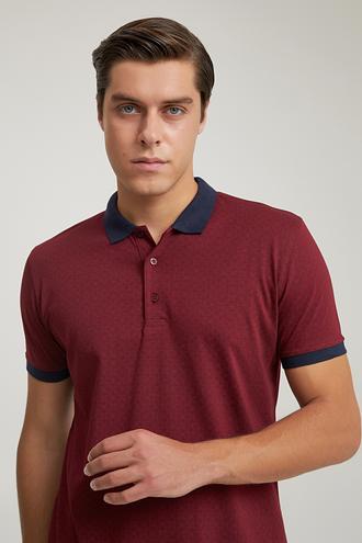 Ds Damat Regular Fit Bordo Baskılı T-shirt - 6725695037776 | D'S Damat