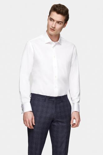Damat Comfort Beyaz Düz Nano Care Gömlek - 8682364799220   Damat Tween