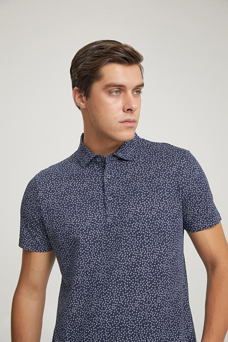Twn Slim Fit Lacivert Baskılı T-shirt - 8682445181548   D'S Damat