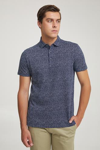 Twn Slim Fit Lacivert Baskılı T-shirt - 8682060946669   D'S Damat
