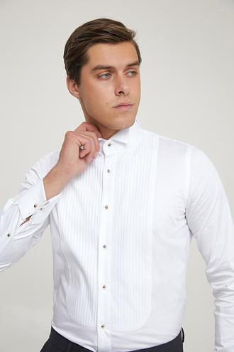 Ds Damat Slim Fit Beyaz Smokin Gömlek - 8682445240696 | D'S Damat