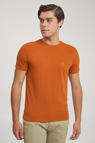Twn Slim Fit Tarçın Düz T-shirt - 8682445165258 | D'S Damat