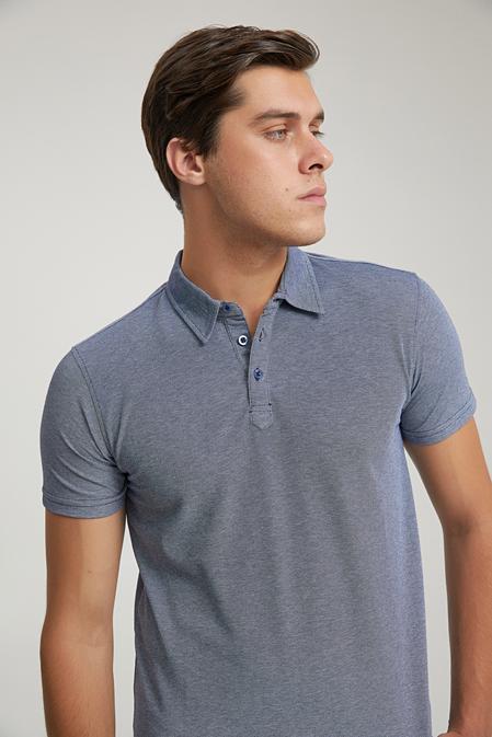 Twn Slim Fit Lacivert Düz T-shirt - 8682445170184   D'S Damat