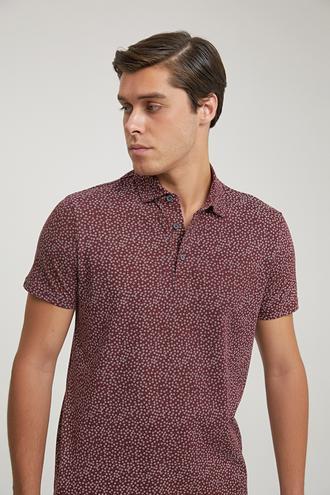 Twn Slim Fit Bordo Baskılı T-shirt - 8682445181609 | D'S Damat