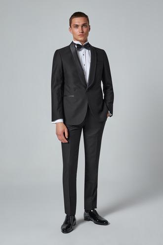 Ds Damat Slim Fit Siyah Düz Smokin Takım Elbise - 8682060930323 | D'S Damat