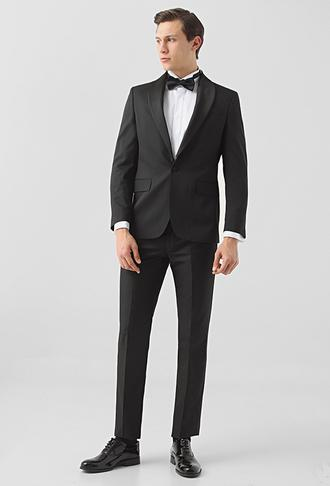 Ds Damat Slim Fit Siyah Desenli Smokin Takım Elbise - 8682445241266 | D'S Damat