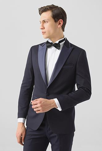 Ds Damat Slim Fit Lacivert Armürlü Smokin Takım Elbise - 8682445242683 | D'S Damat