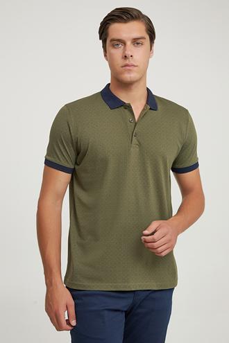 Ds Damat Regular Fit Haki Baskılı T-shirt - 6725695037868 | D'S Damat