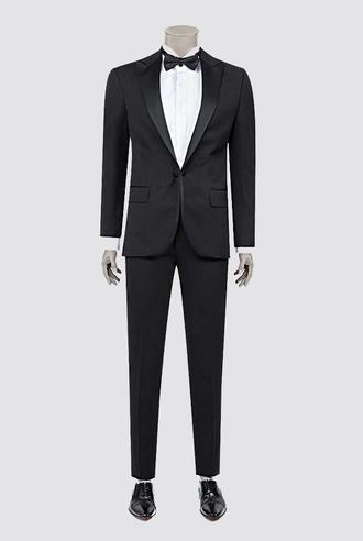 Damat Slim Fit Slim Fit Siyah Desenli Takım Elbıse - 8681649569312 | Damat Tween