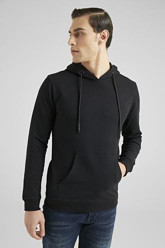 Ds Damat Slim Fit Siyah Düz Sweatshırt - 8682445041330 | D'S Damat