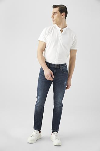 Tween Super Slim Fit İndigo Denim Pantolon - 8681649279969 | Damat Tween