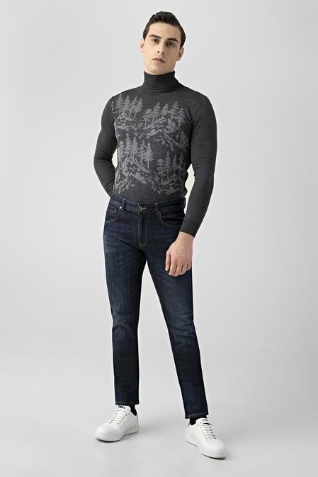 Tween Super Slim Fit İndigo Denim Pantolon - 8681649988441   Damat Tween
