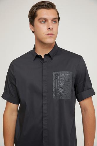 Tween Oversize Siyah Düz Gömlek - 8682364654598 | Damat Tween