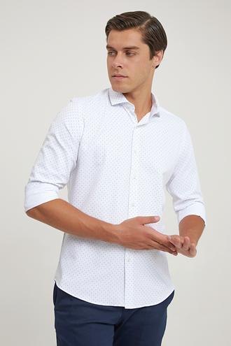 Twn Slim Fit Beyaz Gömlek - 8682445415117 | D'S Damat