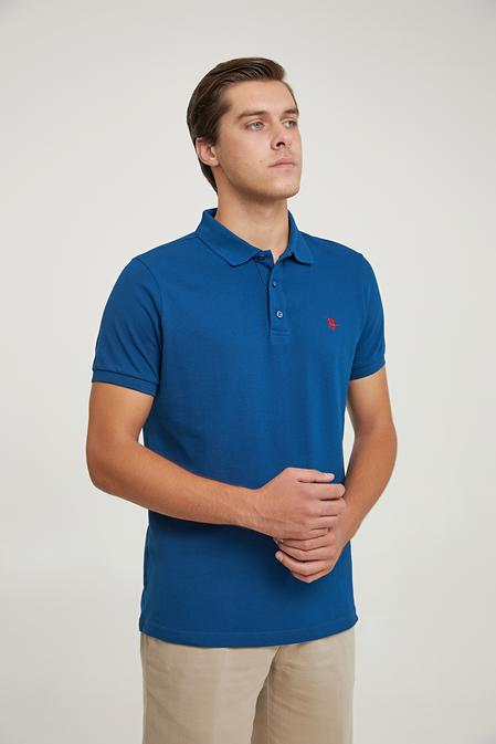 Ds Damat Regular Fit Lacivert Pike Dokulu T-shirt - 6725695038070   D'S Damat