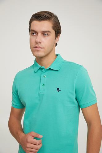 Ds Damat Regular Fit Mint Pike Dokulu T-shirt - 6725695038100 | D'S Damat