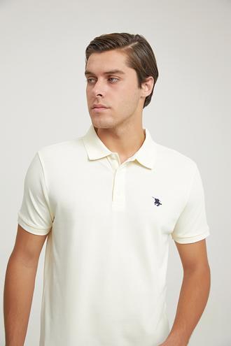 Ds Damat Regular Fit Bej Pike Dokulu T-shirt - 6725695038261 | D'S Damat