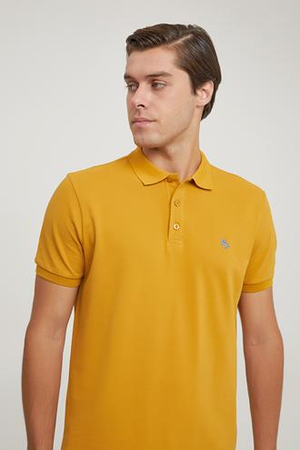 Ds Damat Regular Fit Hardal Pike Dokulu T-shirt - 6725695038346 | D'S Damat