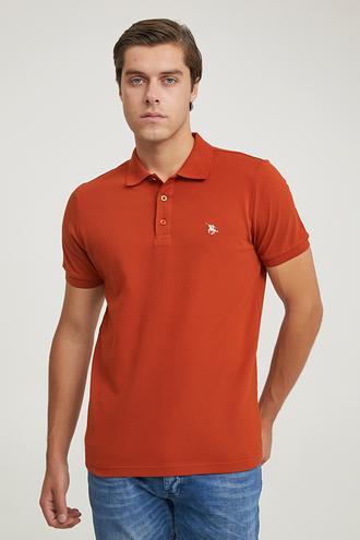 Ds Damat Regular Fit Tarçın Pike Dokulu T-shirt - 6725695038407 | D'S Damat