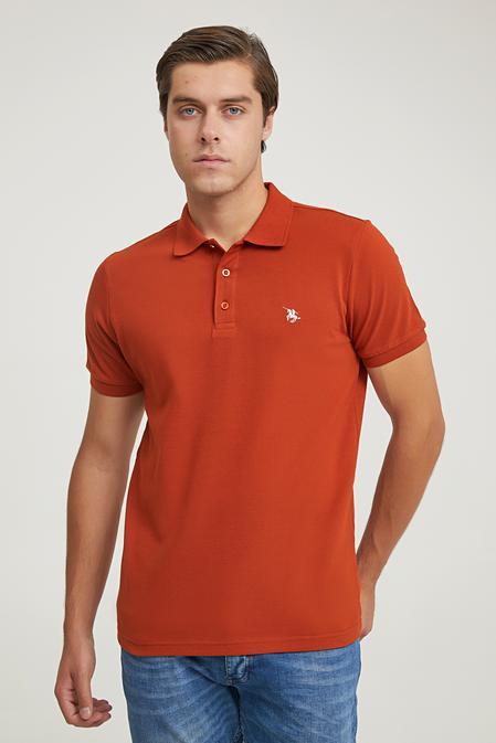 Ds Damat Regular Fit Tarçın Pike Dokulu T-shirt - 6725695038407   D'S Damat