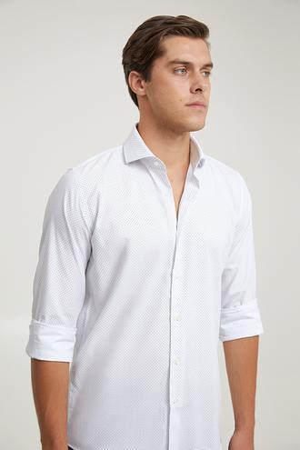 Damat Slim Fit Beyaz Gömlek - 8682364649235 | Damat Tween
