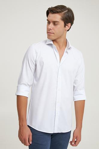 Damat Slim Fit Beyaz Gömlek - 8682364532957   Damat Tween