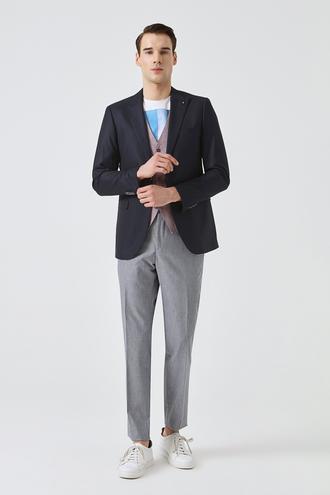 Tween Slim Fit Lacivert Düz Kombinli Takım Elbise - 8681649699316 | Damat Tween