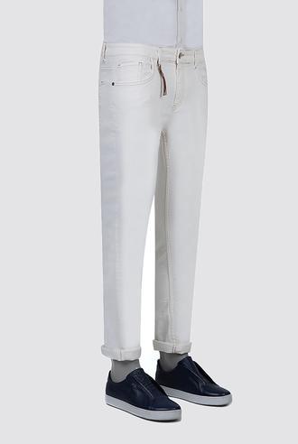 Twn Super Slim Fit Beyaz Düz Denim Pantolon - 8682445335682 | D'S Damat