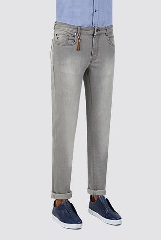 Twn Super Slim Fit Gri Denim Pantolon - 8681779297215 | D'S Damat