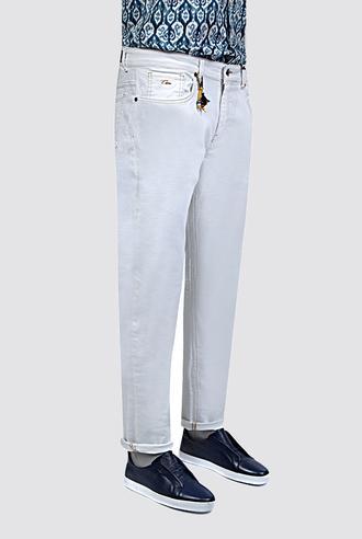 Twn Beyaz Düz Denim Pantolon - 8681779297581 | D'S Damat