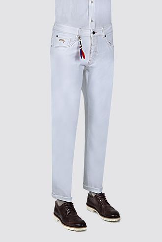 Ds Damat Beyaz Düz Denim Pantolon - 8681779312161 | D'S Damat