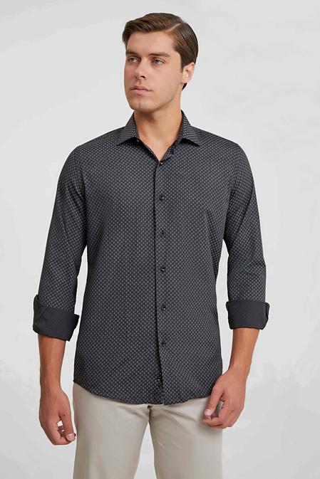Ds Damat Slim Fit Siyah Gömlek - 6725695039558 | D'S Damat