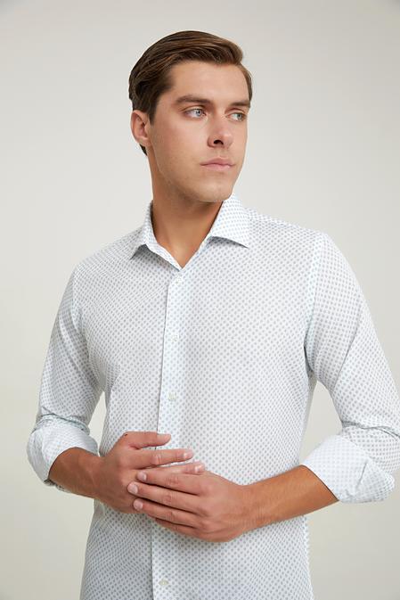 Ds Damat Slim Fit Beyaz Gömlek - 6725695039657 | D'S Damat