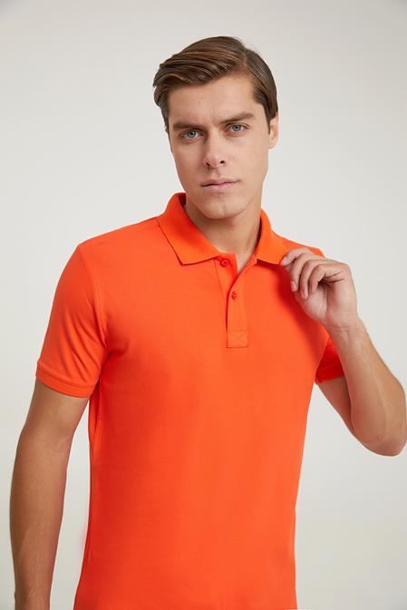 Ds Damat Regular Fit Turuncu Pike Dokulu T-shirt - 6725695038018   D'S Damat
