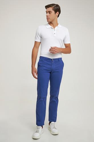 Ds Damat Slim Fit İndigo Düz Chino Pantolon - 8680855218618 | D'S Damat