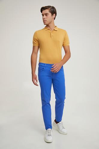 Ds Damat Slim Fit Saks Mavi Düz Chino Pantolon - 8680855219394 | D'S Damat