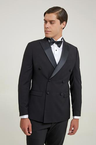 Twn Slim Fit Siyah Düz Smokin Takım Elbise - 8682060922465   D'S Damat
