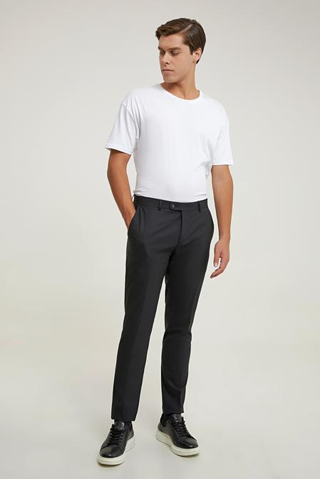 Tween Slim Fit Siyah Kumaş Pantolon - 8682364739981 | Damat Tween