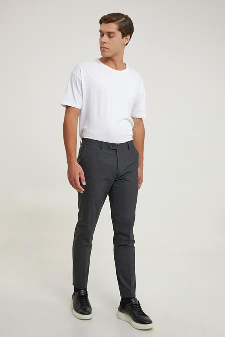 Tween Slim Fit Antrasit Kumaş Pantolon - 8682364740277   Damat Tween