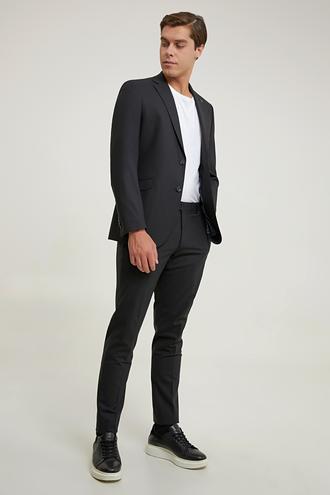 Tween Slim Fit Siyah Düz Takım Elbise - 8682364727216 | Damat Tween