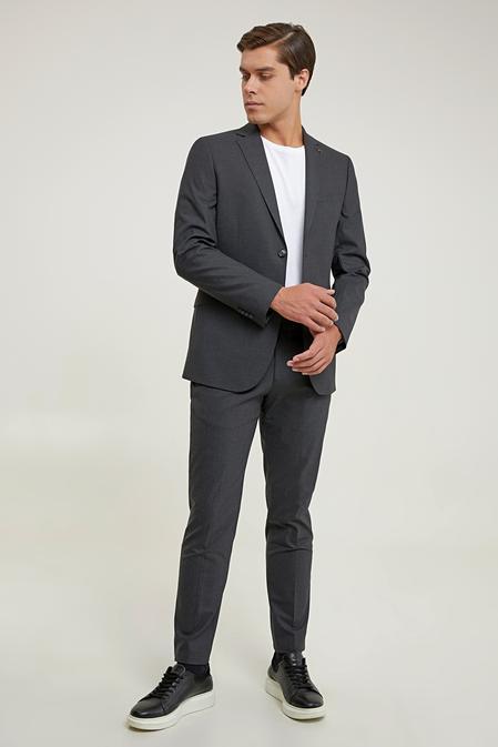 Tween Slim Fit Antrasit Düz Takım Elbise - 8682364727490   Damat Tween