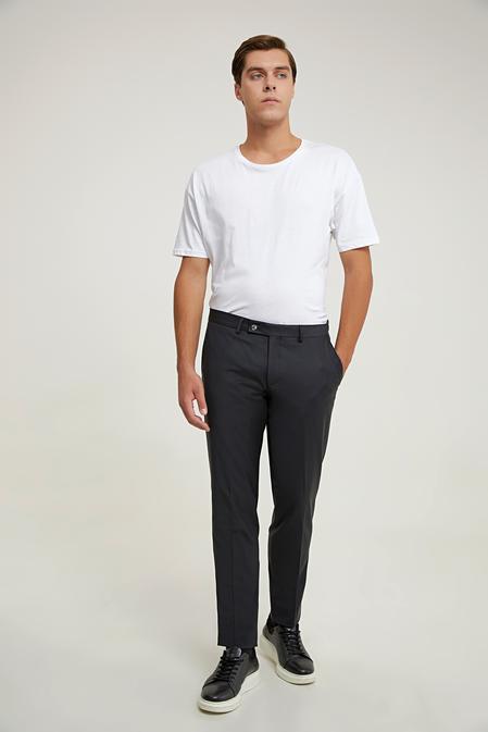 Damat Slim Fit Siyah Kumaş Pantolon - 8682364911875 | Damat Tween