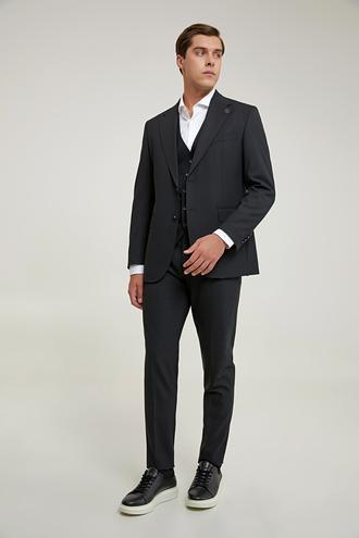 Damat Regular Fit Siyah Yelekli Takım Elbise - 8682364831739 | Damat Tween