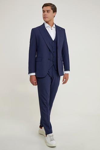 Damat Regular Fit Lacivert Yelekli Takım Elbise - 8682364831807 | Damat Tween