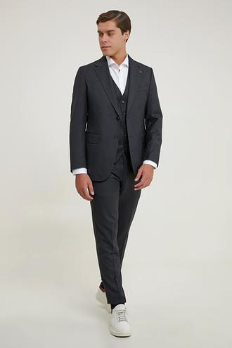 Damat Regular Fit Siyah Yelekli Takım Elbise - 8682364831890 | Damat Tween